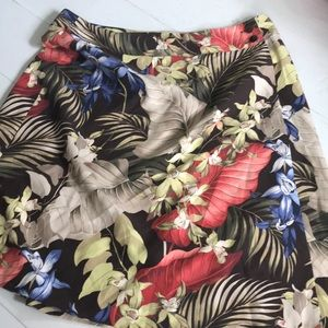 -TOMMY BAHAMA- Silk wrap skirt